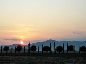 tramonto sull'isola clodia visto dall'agriturismo Stella